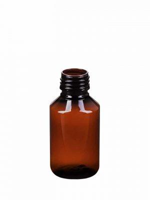 Flaske PET plast 100ml Amber